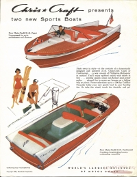<h5>1957 Chris Craft Present Two New Sports Boats</h5>