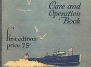 <h5>1929 Chris Craft Care and Operation Book</h5>