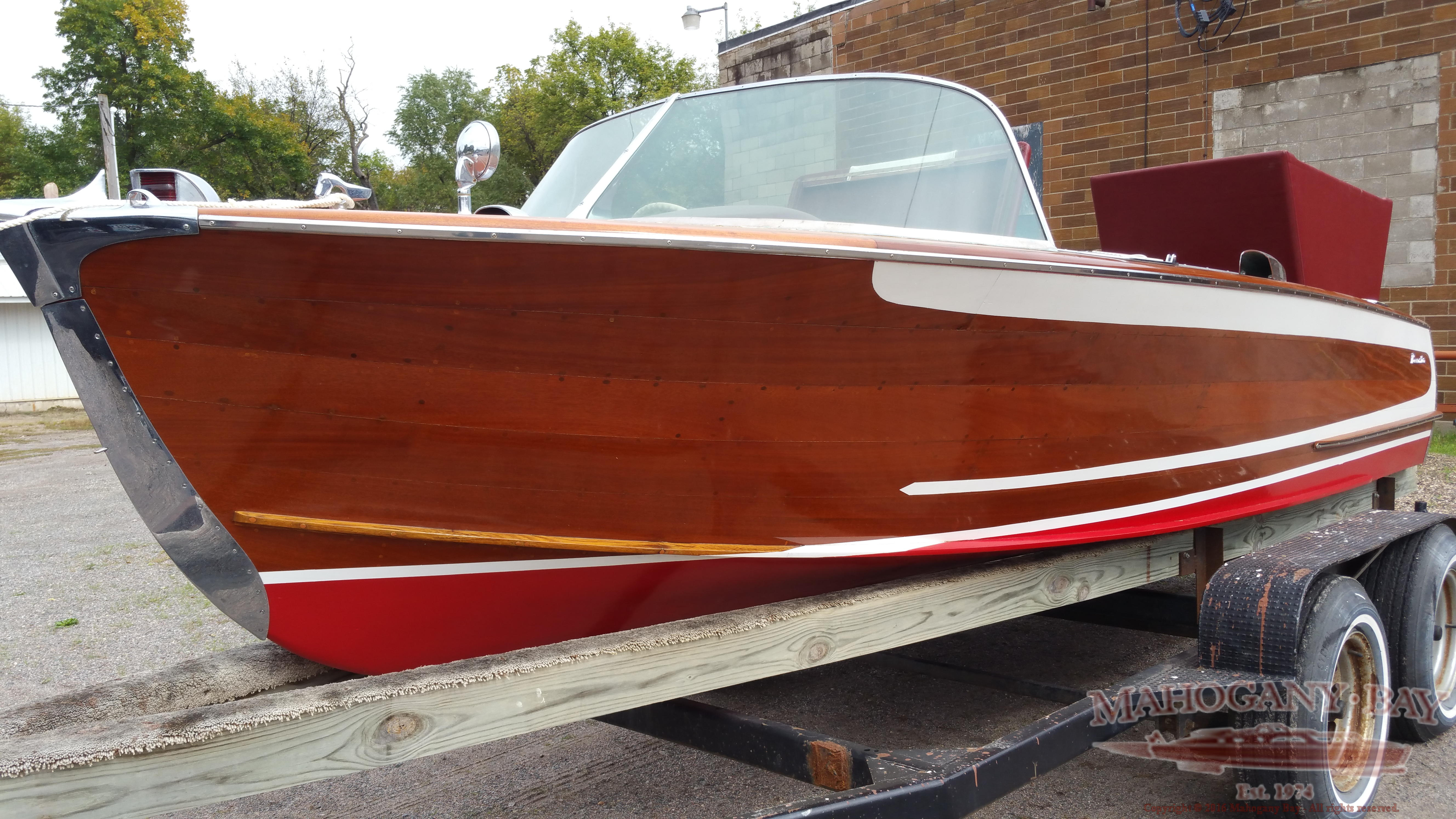 1956 18ft Century Resorter Classic Wooden Boats For Sale